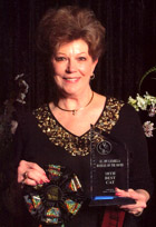 Mary at the Great Lakes Regional Award Banquet, 2005-06, with Boodles award!